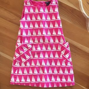 Pink sailboat, lined dress